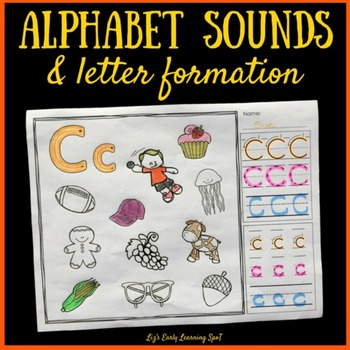 Alphabet Sounds and Letter Formation: Color and Trace