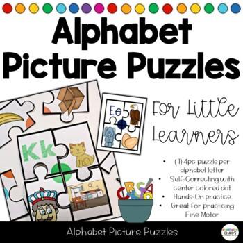 Alphabet Soup - ABC Self-Correcting Picture Puzzles