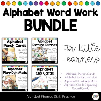 Alphabet Soup ABC Word Work BUNDLE