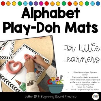 Alphabet Soup - Alphabet Play-Doh Mats with Beginning Soun
