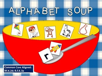 Alphabet Soup Beginning Sound Match