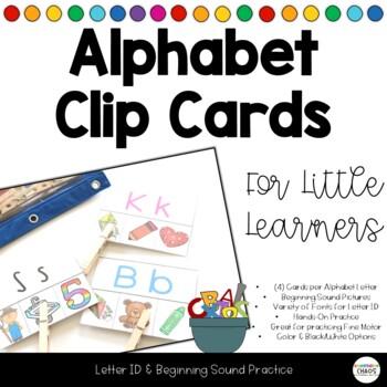 Clip It Letter Sound Matching Cards Beginning Sounds - Alphabet Soup