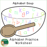 Alphabet Soup Letter Writing Practice Sheet ~* Back to Sch