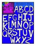 Alphabet Soup Line Art {Creative Clips Digital Clipart}