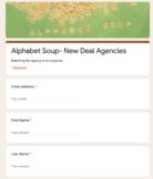 Alphabet Soup- New Deal Agencies Google Forms Assignment