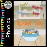 Alphabet Soup - Phonics Beginning Sounds hands-on activity