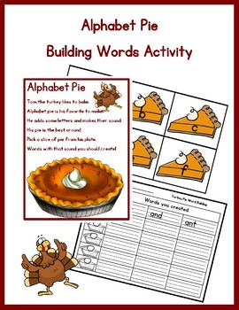 Alphabet Pie: Thanksgiving Word Building Activity