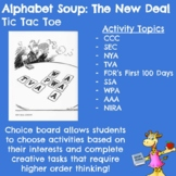 Alphabet Soup: The New Deal (US History) - Choice Board Hyperdoc
