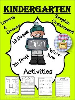 Alphabet Specialty: January Winter Activities! NO PREP! Literacy & Science