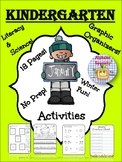 Alphabet Specialty: January Winter Activities! NO PREP! Li
