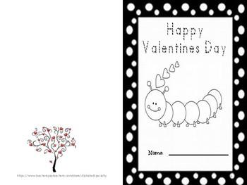 Alphabet Specialty: Quick Print Valentines Day Cards Pre-K / Kindergarten / 1st