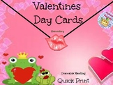 Alphabet Specialty: Quick Print Valentines Day Cards Pre-K