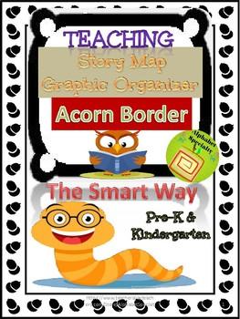 Alphabet Specialty: Story Map Graphic Organizer 'Acorn Border'