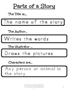Alphabet Specialty: Teaching Story Map/Graphic Organizer Kindergarten