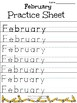 Alphabet Specialty: Tracing the months of the year practice sheets! Easy Print