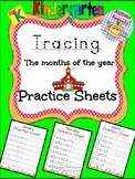 Alphabet Specialty: Tracing the months of the year practic