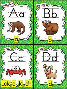 Alphabet Phonics Posters  {Jungle Theme}