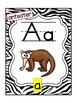 Alphabet Phonics Posters  {Zebra Theme}