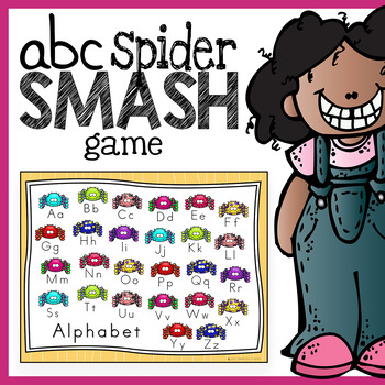 Spider Smash Letter Recognition and Phonics Game Boards for Literacy Centers