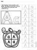 Alphabet Spin And Graph -Letter A SAMPLE