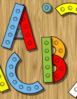 Alphabet Spin & Build - Identify & Form Uppercase + Lowercase Letters