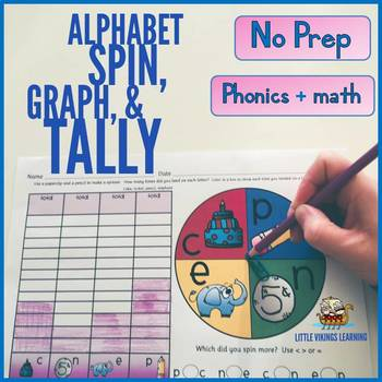 Alphabet Phonics Spin, Graph, and Tally
