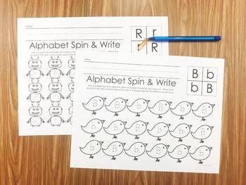 Alphabet Spin & Write