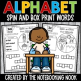 Alphabet Spin and Box Print Words
