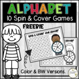Alphabet Spin and Cover Games - Upper and Lowercase Letter
