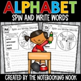 Alphabet Spin and Write Words