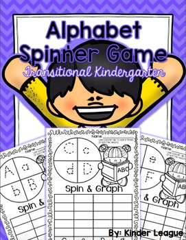 Alphabet Spinner Game for TK by Kinder League