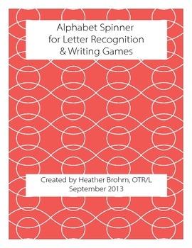 Alphabet Spinner for Letter Recognition and Writing Games