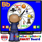 SMARTBoard Lesson: Alphabet Spinners - Letter Sounds - Move Your Body!