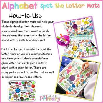 Alphabet Spot the Letter Mats Posters  | Distance Learning