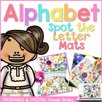 Alphabet Spot the Letter Mats Posters