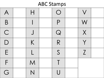 Alphabet Stamp Sheet-Uppercase and Lowercase