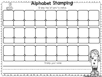 Alphabet Stamping Activity Sheets