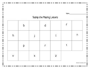 Alphabet Stamping Literacy Center Activities