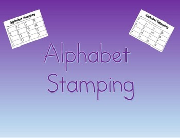 Alphabet Stamping: Same Letter, Matching Uppercase and Lowercase Letter