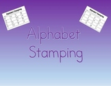 Alphabet Stamping: Same Letter, Matching Uppercase and Low