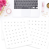 Alphabet Stamping Sheets:  Letters A - H