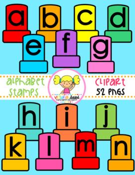 Alphabet Stamps Clipart