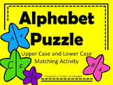 Alphabet Star Puzzles: Upper case and lower case matching activity