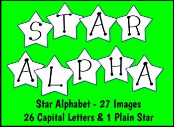 Alphabet Stars Clip Art Set Free - Commercial Use Okay!