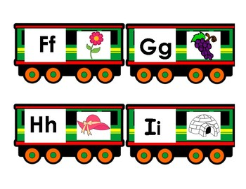 Alphabet Steam Train Cards