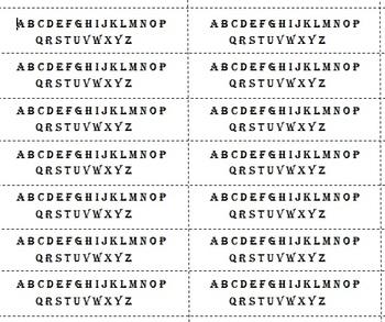 Alphabet Sticks for Games