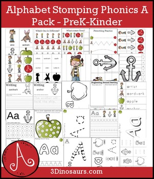 Alphabet Stomping Phonics A Pack - PreK-Kinder