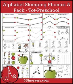 Alphabet Stomping Phonics A Pack - Tot-Preschool