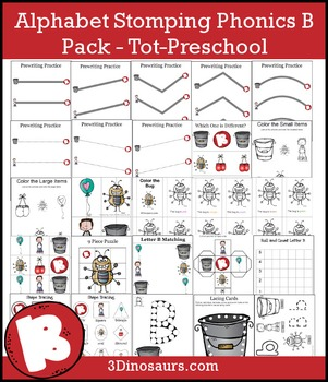 Alphabet Stomping Phonics B Pack – Tot-Preschool