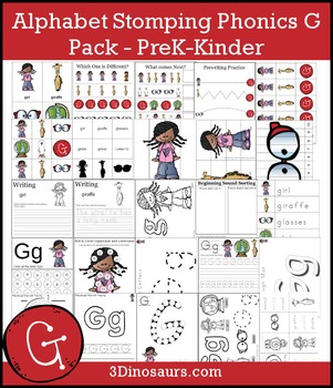 Alphabet Stomping Phonics G Pack - PreK-Kinder
